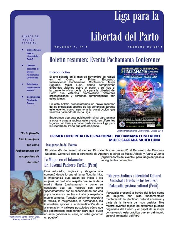 Pachamama Conference Boletín 1